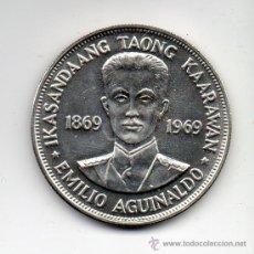Monedas antiguas de Asia: FILIPINAS. 1 PISO. AÑO 1969. PLATA. SIN CIRCULAR.. Lote 35379164