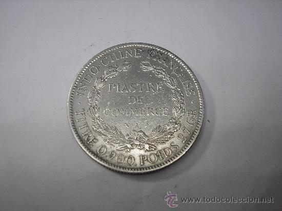 Monedas antiguas de Asia: 1 PIASTRA DE PLATA DE 1896. INDOCHINA FRANCESA - Foto 2 - 35659178