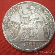 Monedas antiguas de Asia: MONEDA DE PLATA REPUBLICA FRANCESA DE INDOCHINA AÑO 1905 - PIASTRA DE COMMERCE . Lote 37410474