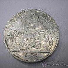 Monedas antiguas de Asia: PIASTRA DE PLATA DE 1908. INDOCHINA FRANCESA. Lote 37797315