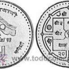 Monedas antiguas de Asia: NEPAL 5 RUPIAS 1997 KM 1117 VISITA NEPAL 98. Lote 169130074