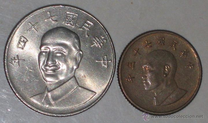 2 DE CHINA / TAIWAN (Numismática - Extranjeras - Asia)