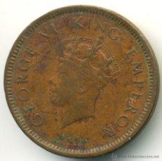 Monedas antiguas de Asia: INDIA, JORGE VI. ONE QUARTER, ANNA. 1939. Lote 41113116