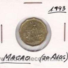 Monedas antiguas de Asia: MACAO 20 AVOS 1993. Lote 41755539