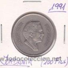 Monedas antiguas de Asia: JORDANIA 100 FILS 1991. Lote 41998332