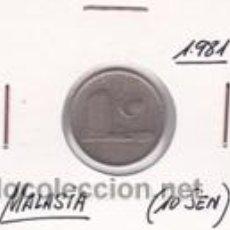 Monedas antiguas de Asia: MALASIA 10 SEN 1981. Lote 41998815