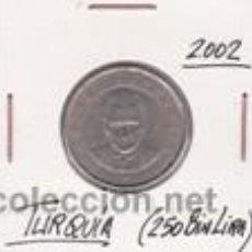 Monedas antiguas de Asia: TURQUIA 250 BIN LIRA 2002. Lote 42103419