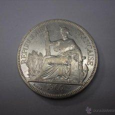 Monedas antiguas de Asia: INDOCHINA FRANCESA. 1 PIASTRA DE PLATA DE 1907. Lote 42133236