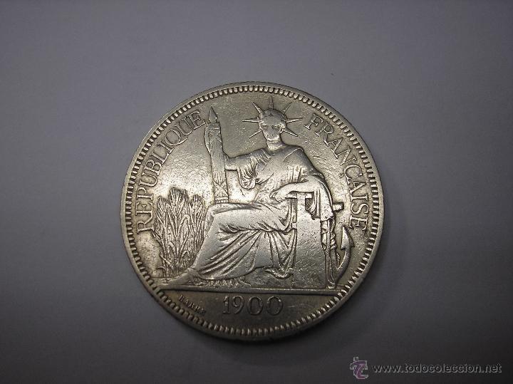 INDOCHINA FRANCESA. 1 PIASTRA DE PLATA DE 1900 (Numismática - Extranjeras - Asia)