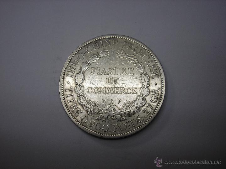 Monedas antiguas de Asia: INDOCHINA FRANCESA. 1 PIASTRA DE PLATA DE 1900 - Foto 2 - 42133319