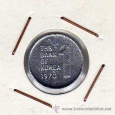 Monedas antiguas de Asia: COREA DEL SUR : 1 WON 1970 EBC . Lote 42298609