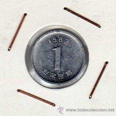 Monedas antiguas de Asia: COREA DEL SUR : 1 WON 1983 SIN CIRCULAR. Lote 42434506