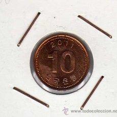 Monedas antiguas de Asia: COREA DEL SUR : 10 WON 2011 SIN CIRCULAR . Lote 42434734