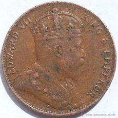 Monedas antiguas de Asia: 1 CÉNTIMO 1909 CEYLAN (SRI LANKA), COBRE, BIEN CONSERVADA.. Lote 42856499