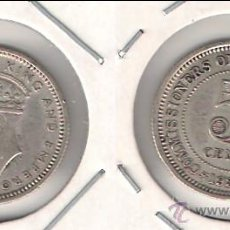 Monedas antiguas de Asia: MONEDA DE 5 CÉNTIMOS DE MALAYA DE 1939 DEL REINADO DE JORGE VI. PLATA.EBC. (ME1033).. Lote 43129603
