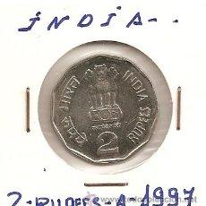 Monedas antiguas de Asia: BUSCADA MONEDA EN CUPRONIQUEL INDIA 2 RUPEES 1997 NATIONAL INTEGRATION 6,25GR-26MM. S/C. Lote 43335402