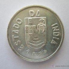 Monedas antiguas de Asia: INDIA PORTUGUESA * 1 RUPIA 1935 * PLATA. Lote 43947341