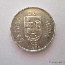 Monedas antiguas de Asia: INDIA PORTUGUESA * 1/2 RUPIA 1936 * PLATA. Lote 43947386