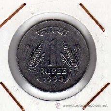 Monedas antiguas de Asia: INDIA : 1 RUPEE 1993 ( PUNTO ) EBC+. Lote 44487134