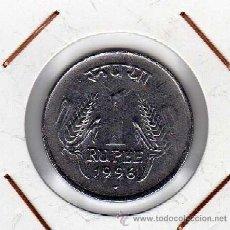 Monedas antiguas de Asia: INDIA : 1 RUPEE 1996 ( PUNTO ) EBC+. Lote 44487165
