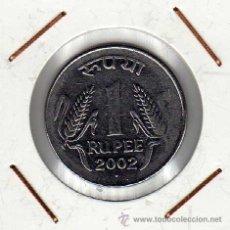 Monedas antiguas de Asia: INDIA : 1 RUPEE 2002 ( PUNTO ) EBC+. Lote 44487338