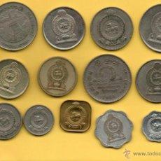 Monedas antiguas de Asia: MM LOTE 13 MONEDAS CEILAN. CEYLAN. SRI LANKA. DIFERENTES AÑOS. VER FOTOGRAFIAS.. Lote 44656834