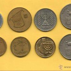 Monedas antiguas de Asia: MM LOTE 8 MONEDAS ISRAEL. DIVERSOS AÑOS. VER FOTOGRAFIAS.. Lote 44656885