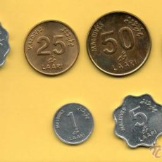 Monedas antiguas de Asia: MM SERIE REPUBLICA DE MALDIVES. MALDIVAS. VER FOTOGRAFIAS. 6 PIEZAS.. Lote 44656960