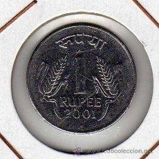 Monedas antiguas de Asia: INDIA : 1 RUPEE 2001 ( BOMBAY ) EBC+. Lote 44685012