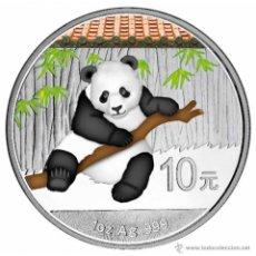 Monedas antiguas de Asia: CHINA 2014. 1 ONZA DE PLATA DE 999 MM PANDA 10 YUAN. EN SU CAPSULA. A COLOR. Lote 45468031