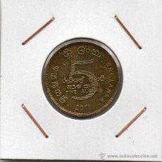 Monedas antiguas de Asia: SRI LANKA : 5 RUPEES 2011 EBC. Lote 46437646