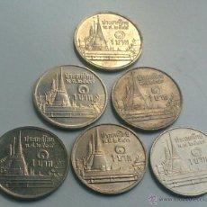 Monedas antiguas de Asia: TAILANDIA - LOTE 6 MONEDAS DE 1 BATH. Lote 50862596