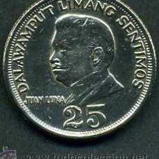 Monedas antiguas de Asia: FILIPINAS 25 CENT AÑO 1972 (JUAN LUNA PINTOR HISPANO FILIPINO Y EN EL REVERSO EL ESCUDO NACIONAL)Nº5. Lote 147382217