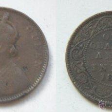 Monedas antiguas de Asia: REINA VICTORIA MONEDA INDIA 1862 - ONE QUARTER ANNA. Lote 51796347