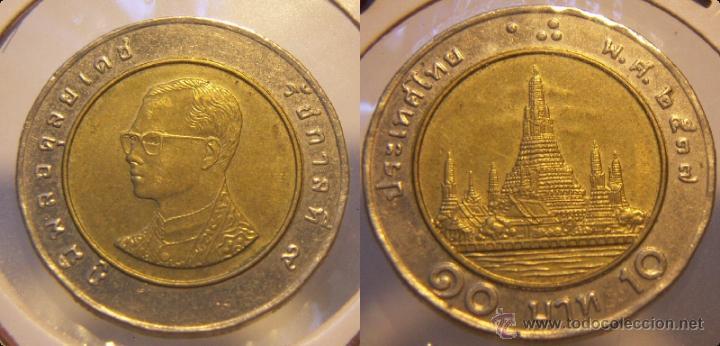 TAILANDIA 10 BAHT BIMETALICA (Numismática - Extranjeras - Asia)
