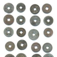 Monedas antiguas de Asia: CHINA BARATO LOTE DE 24 MONEDAS. TIPO CASH A CLASIFICAR. DIVERSOS TIPOS Y TAMAÑOS.. Lote 53434150