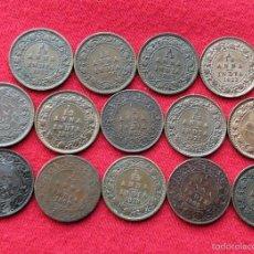 Monedas antiguas de Asia: INDIA 14 X 1/12 ANNA 1899 1905 1912 1914 1916 1919 1921 1923 1928 1932 1933 1934 1936 1939. Lote 56481367