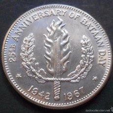 Monedas antiguas de Asia: FILIPINAS 1 PESO 1967 25ª ANIV. BATALLA DE BATAN -PLATA-. Lote 57127867