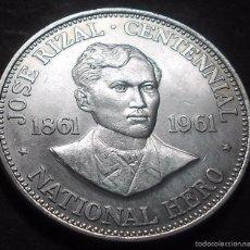 Monedas antiguas de Asia: FILIPINAS 1 PESO 1961 -PLATA-. Lote 57494177