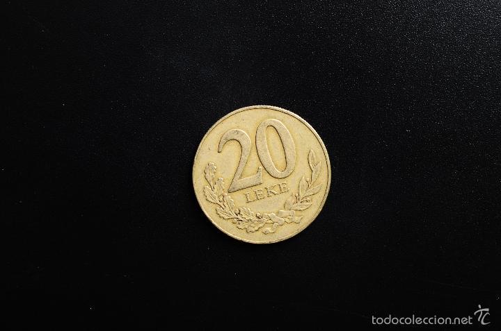 Monedas antiguas de Asia: REPUBLICA SHKIPERISE - 20 LEKE - 2000 - MBC - Foto 2 - 178781811