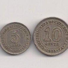 Monedas antiguas de Asia: MALAYA - 4 MONEDAS DE 1- 5-10-20 CENTS AÑOS1940-1948-1950. Lote 61081479