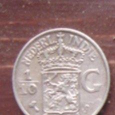 Monedas antiguas de Asia: HOLANDA. COLONIAS. 1/10 DE FLORÍN (GULDEN) DE PLATA DE LAS INDIAS ORIENTALES HOLANDESAS DE 1941. EBC. Lote 62757036