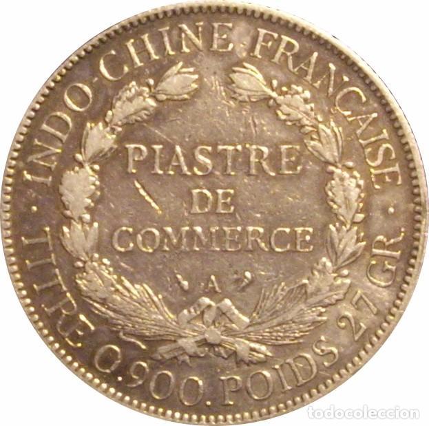 Monedas antiguas de Asia: INDOCHINA FRANCESA. 1 PIASTRA. 1.908. PLATA - Foto 2 - 64148083