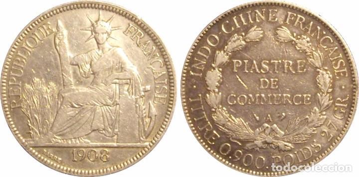 Monedas antiguas de Asia: INDOCHINA FRANCESA. 1 PIASTRA. 1.908. PLATA - Foto 3 - 64148083