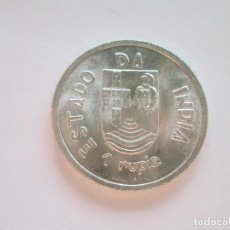 Monedas antiguas de Asia: INDIA PORTUGUESA * 1 RUPIA 1935 * PLATA. Lote 64341203