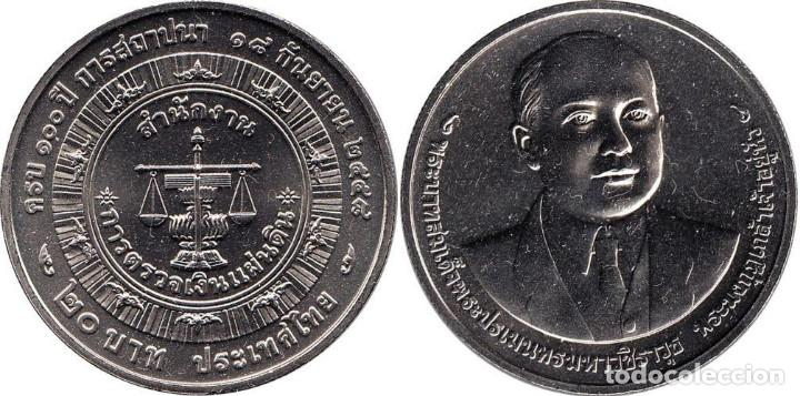 THAILANDIA / TAILANDIA 20 BAHT 2016 CENTENARIO AUDITOR GENERAL (Numismática - Extranjeras - Asia)