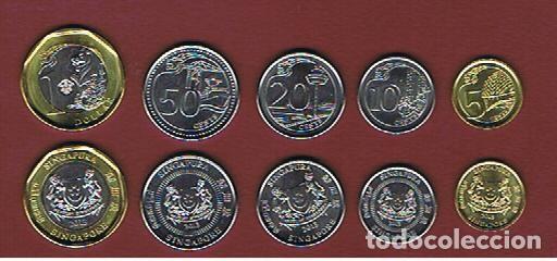 Singapur 5 10 20 50 Cnt 1 Dollar Serie Com Comprar Monedas