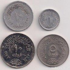 Monedas antiguas de Asia: EGIPTO - SERIE DE 4 MONEDAS 1972. Lote 77368069