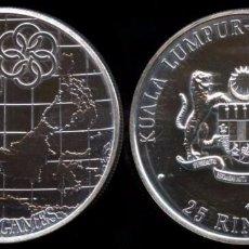 Monedas antiguas de Asia: MUY RARA MONEDA 1977 FM MALAYSIA 25 RINGGIT-9º JUEGOS DEL SUDESTE ASIÁTICO DE PLATA SÓLO 5877 PIEZAS. Lote 81194524