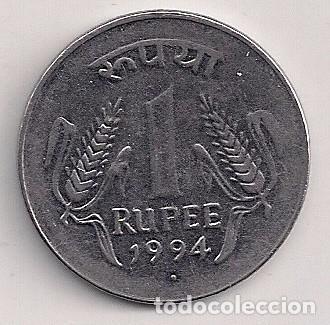 Monedas antiguas de Asia: India - 1 rupia 1994 N - Y#92.1 - Foto 2 - 82847028